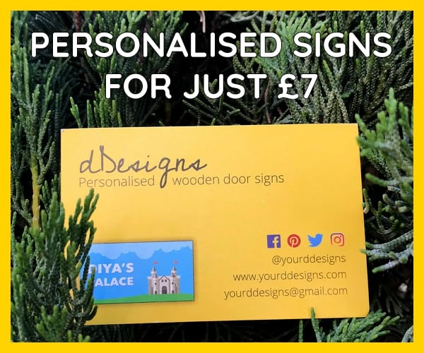 Buy personalised signs for just £7 from dDesigns