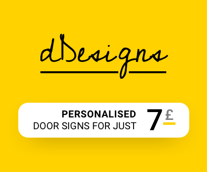 Buy PERSONALISED signs from Your dDesigns for just £7